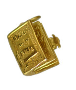 3D Real Genuine 10KT GOLD Holy Bible Charm Jesus Christ Christianity Jew... - $286.11