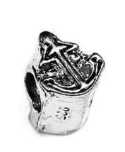 Boat Anchor Ship Charm european bead for bracelet jewelry Sailor Sterling silver - $18.80