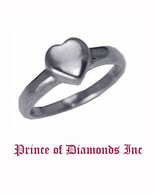 New Sterling silver Heart I Love You friendship ring