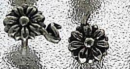 Flower Real Sterling Silver Stud 925 Earring Jewelry - $19.78