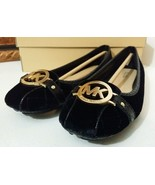 New MICHAEL KORS Fulton Quilted-Velvet Moccasin 11M US Women Shoes Black - $109.00