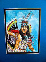 Navajo artist Edward A.Walker acrylic canvas bo... - $123.75