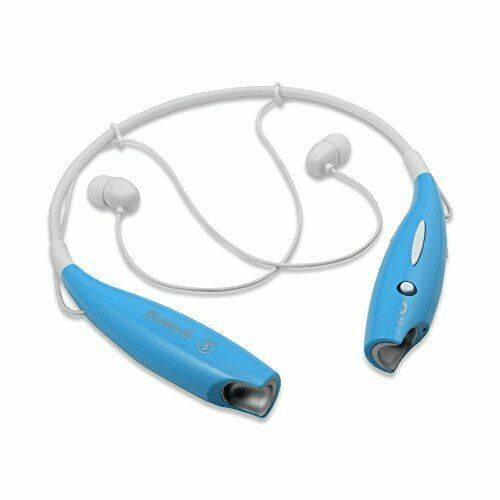 Wireless Bluetooth Headset HandsFree Sports Stereo Headsets Neckband Style Blue