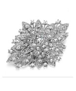 Large Flower Silver Plated Vintage-Style Bouquet Brooch - $3.99