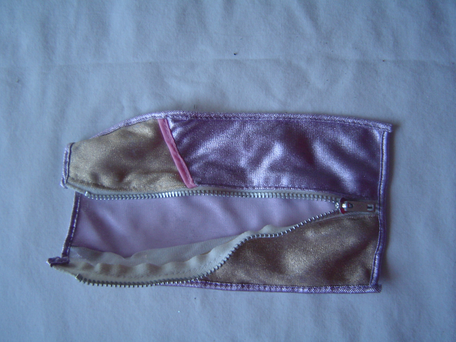 Vintage Barbie Doll Garment Bag Metallic