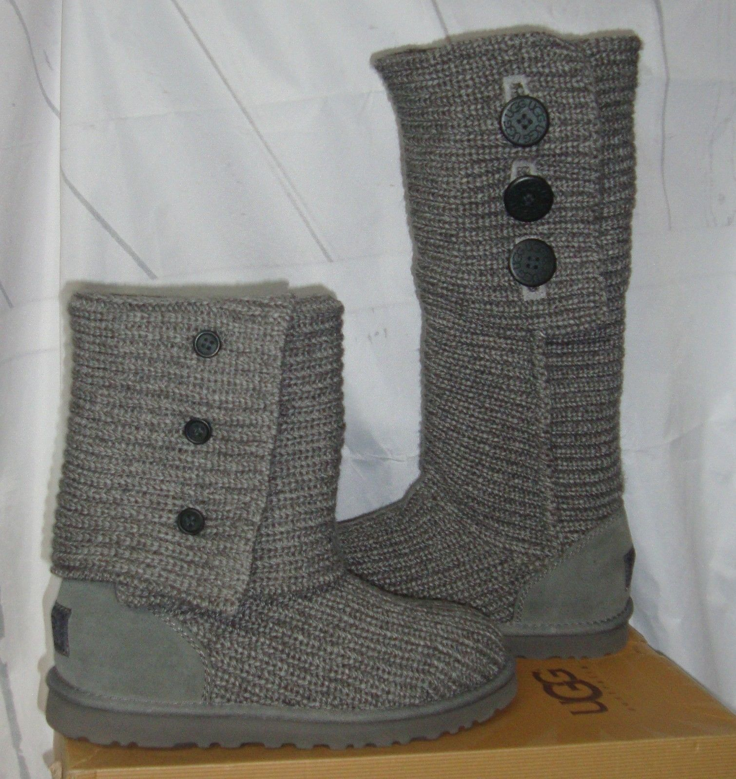 7b1b8056591 UGG Australia Grey Gray Classic Cardy Knit and similar items