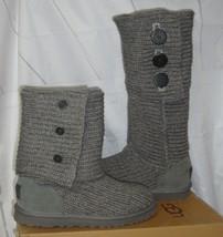 UGG Australia Grey Gray Classic Cardy Knit Tall Boots Size US 7,EU 38 St... - $78.18