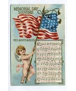 Memorial Day Souvenir Red White & Blue Postcard Columbia Gem  of the Oce... - $24.72