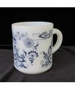 Hazel Atlas Coffee Mug, Blue Onion, Old Town Blue, circa 1950's - $10.00