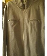 Calvin Klein 2XL gray 2 ZIPPERED POCKETS JACKET FULL ZIPPER 80% COTTON - $24.78