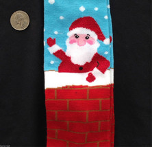 Funny Novelty SANTA CHIMNEY KNEE HIGH SOCKS Holiday Christmas Costume Ac... - $4.92
