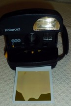 Vintage Polaroid 600  Photo Instant Camera Dark Blue and Black Tested an... - $34.64