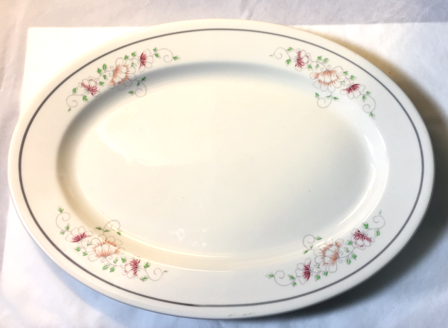 Homer Laughlin Best China large oval restaurant ware platter floral