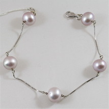 18K 750 WHITE GOLD WITH PURPLE PEARLS (10-11 MM DIAM.) BRACELET