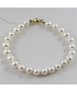 18K 750 YELLOW GOLD AND WHITE PEARLS (8MM DIAM.) BRACELET - $183.35