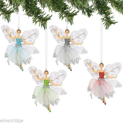 Frosted Snow Fairy  choice of color  Vintage look NEW