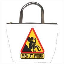 Lazy Worker Yield Sign Bucket Bag - $26.83