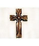 Unique Inspirational Carved Wood Wall Cross - $12.99