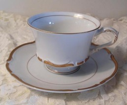Mimosa Fine China of Japan Grosvenor White with Gold Cup & Saucer Elegant