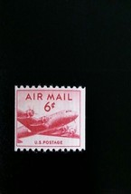 1949 6c DC-4 Skymaster, Small Plane, Coil, U.S. Air Mail Scott C41 Mint ... - $2.58