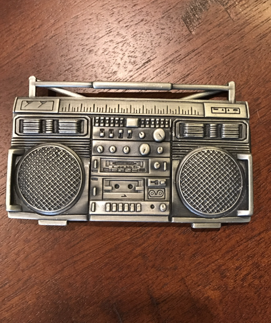 BOOOM BOOM Boom Box Belt Buckle