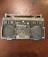 BOOOM BOOM Boom Box Belt Buckle  - $30.00