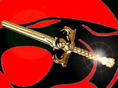Thundercats Sword of Omens Gold pltd over sterling silver Pendant charm Jewelry