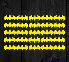 "Batman Vinyl Decal 25 Stickers Sheet Envelope Seal Diy Card Flashlight 2"" Decals - $13.71+"