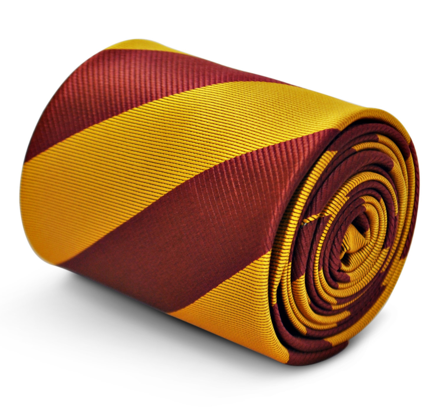 gold & brown barber striped mens tie by Frederick Thomas FT3200
