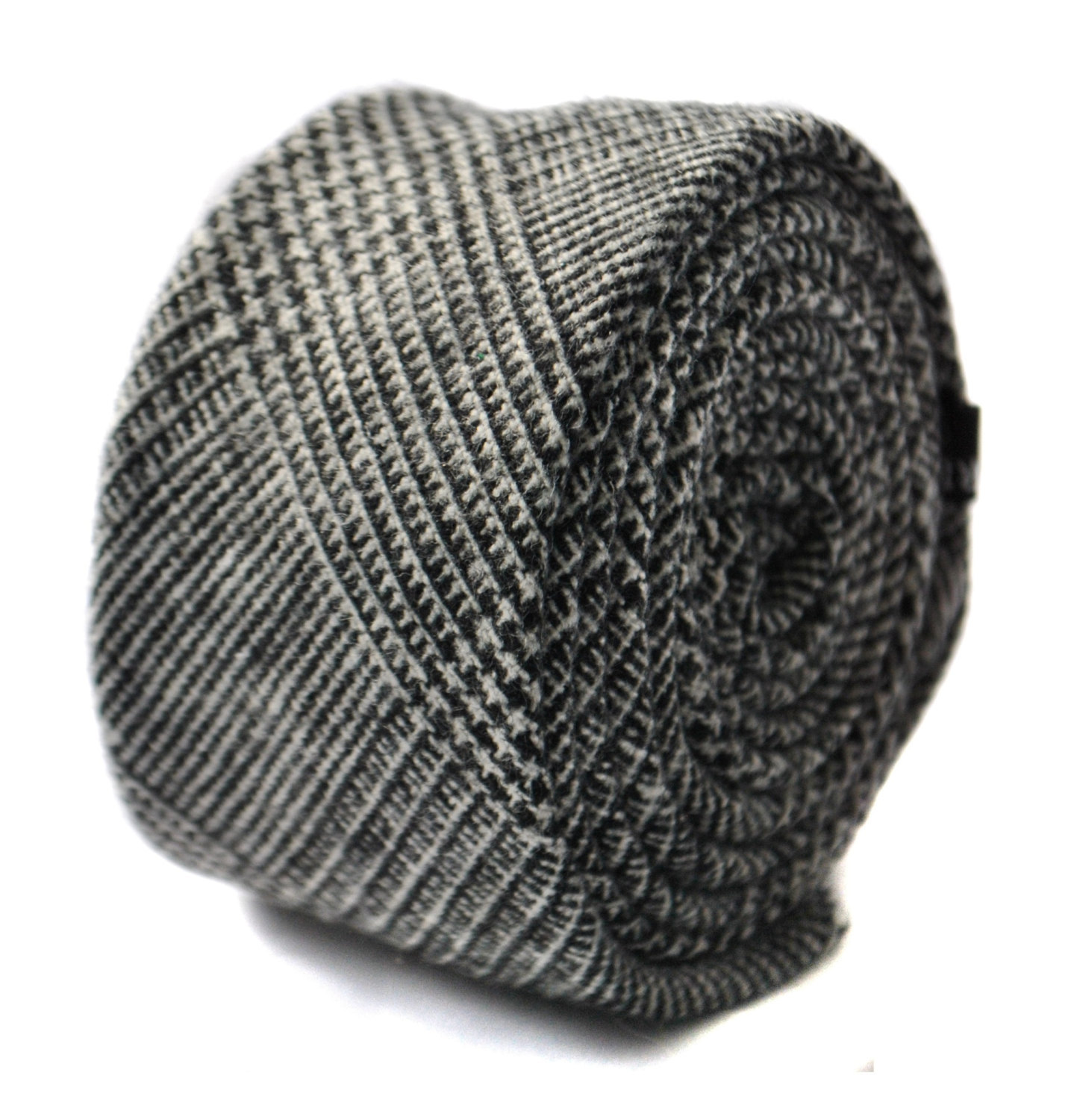 grey tweed wool skinny tie by Frederick Thomas FT1645