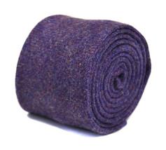 plain lavender purple 100% british manufactured wool tweed tie by Henry Harris H
