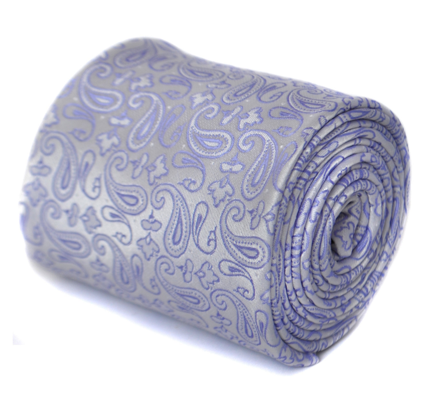 lilac purple paisley tie by Frederick Thomas FT1870
