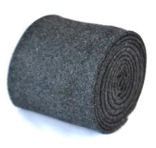 skinny plain dark grey 100% wool tie by Frederick Thomas FT2086