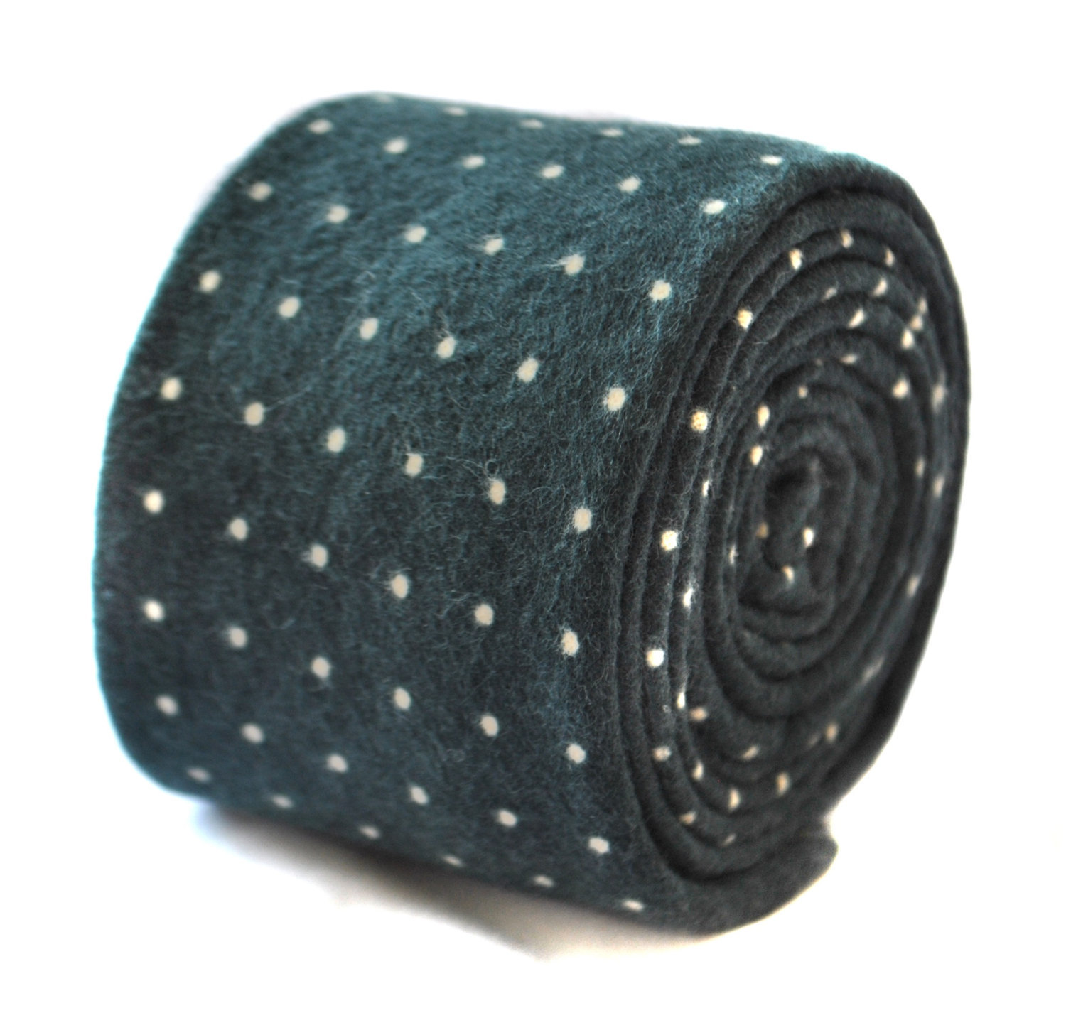 dark green and pin spot velvet style tie by Frederick Thomas FT1914