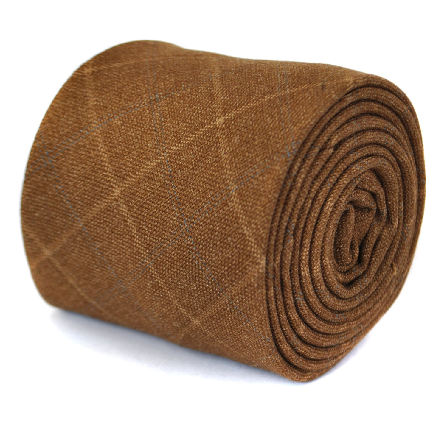 coffee brown tweed wool tie by Frederick Thomas FT1939