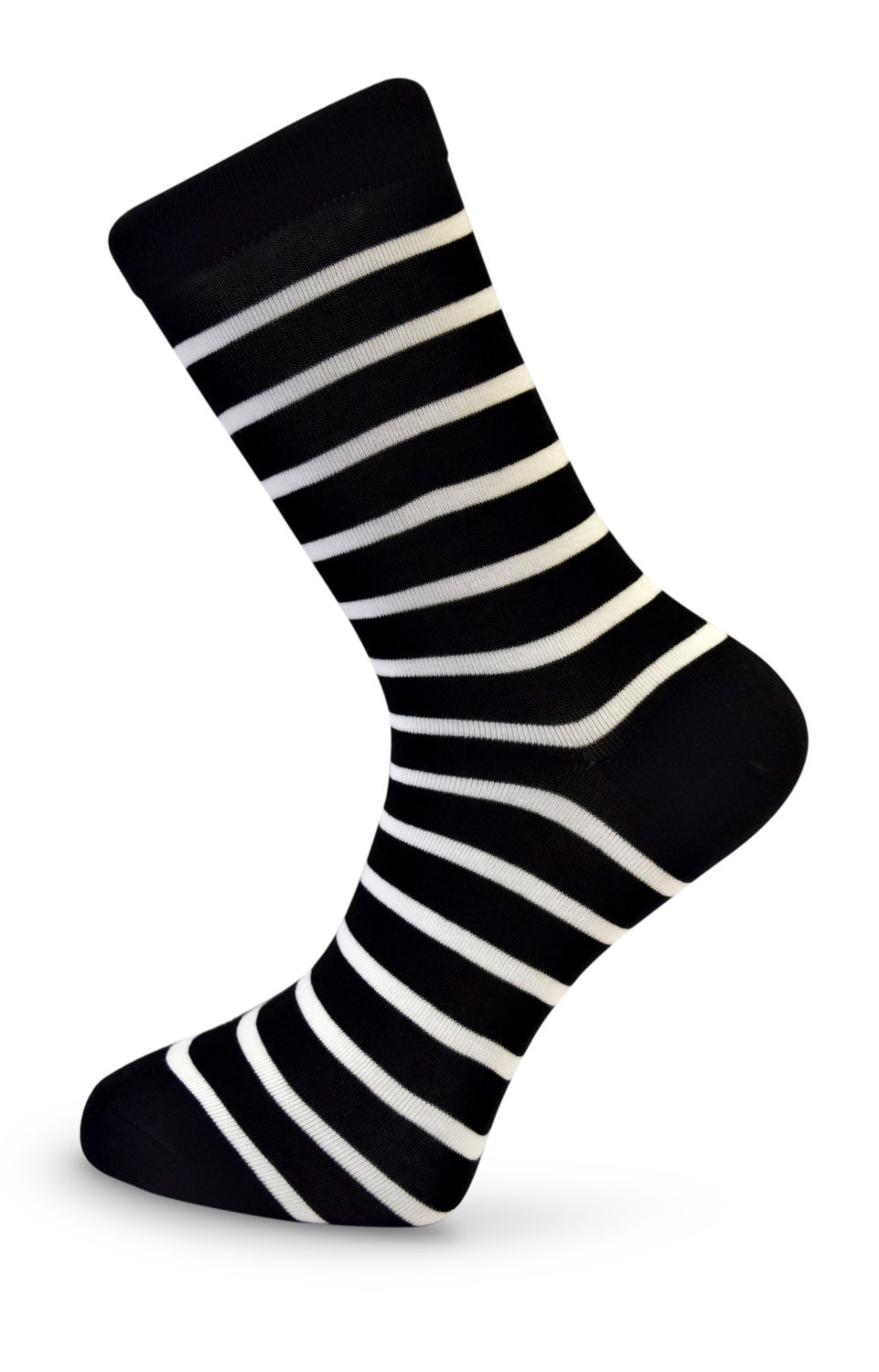Black & White Thin Striped Mens Socks by Frederick Thomas of London FT3105a fun,