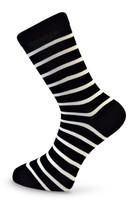 Black & White Thin Striped Mens Socks by Frederick Thomas of London FT3105a fun,