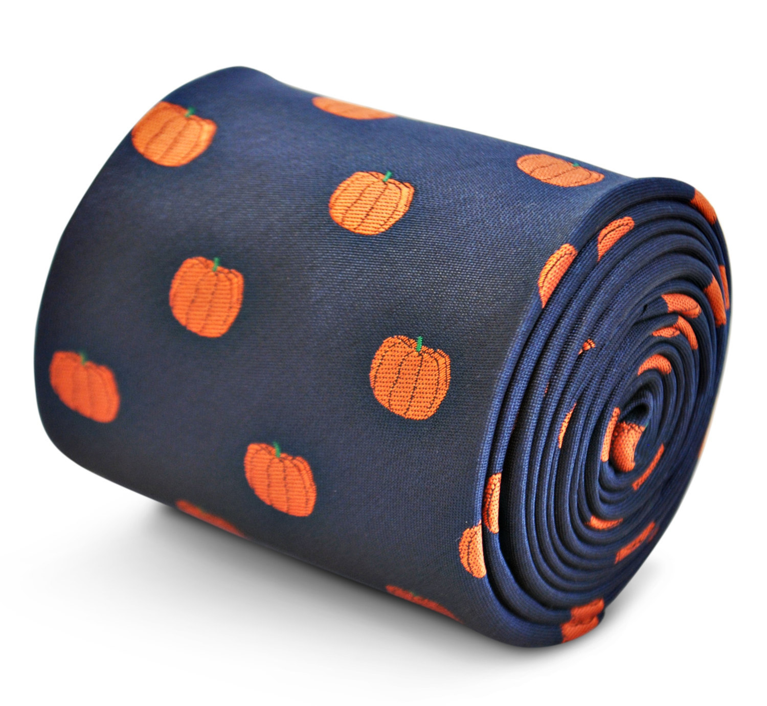 Pumpkin Pattern Mens Tie by Frederick Thomas FT3198