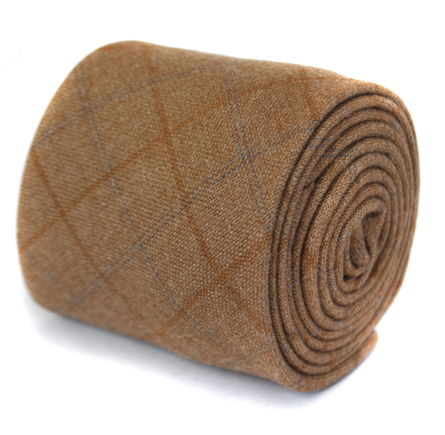 light brown tweed wool tie by Frederick Thomas FT1940