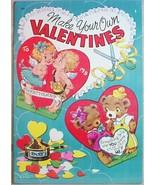 Vintage VALENTINES copyright 1952 UNUSED MAKE YOUR OWN Saalfield Publish... - $15.00