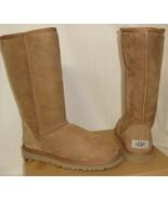 UGG Australia CLASSIC TALL Chestnut Suede Sheepskin Boots US 6,EU 37 NEW... - $138.59