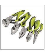 Pliers Set Tooling Instrument 5 Piece Job Tools Green Comfort Handle Man... - $29.99