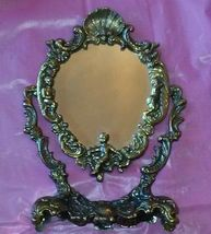 Antique Bronzed portable Vanity MIRROR - $42.50