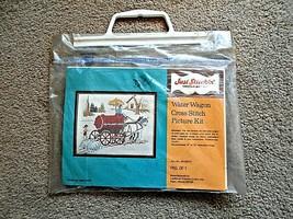 Just Stitchin' Water Wagon Cross Stitch Picture Kit No. 40-20277 size 11... - $7.91