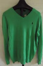 NWT Polo Ralph Lauren Tiller Green Pima cotton Thin Knit Sweater Mens 2X Big - $84.15