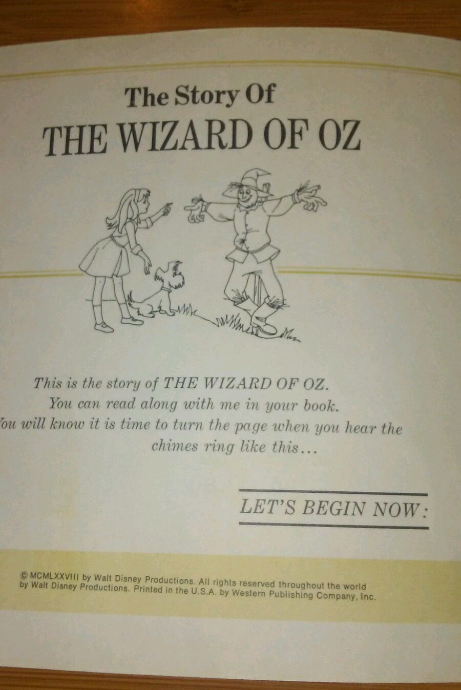 1977 Walt Disney The Wizard of Oz book and tape (only book)