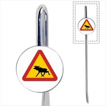 Yield For Moose Sign Bookmark - Book Lover Novelty Gifts - $12.32