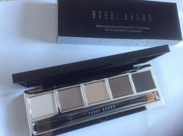 Bobbi Brown RICH CARAMEL Eye Makeup Palette + Eyeshadow / Liner Brush NE... - $64.34