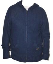 Rocawear Blak Knit Men's Full Zip Sweater Hoodie (Navy) Urban Clothing L... - $27.99