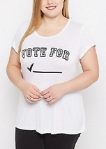 New Womens Plus Size 3X Vote For      Check Box Funny Cute Voting Tee Shirt Top - $15.47